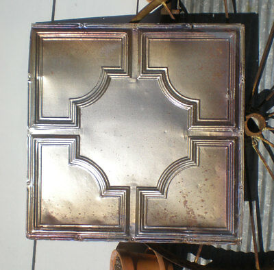 Iridescent Antique Carnival Ceiling Tin Tile Elegant Octagon Frame Canvas Chic