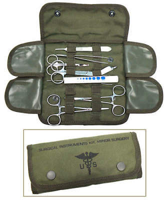 ELITE FIRST AID Surgical Kit STOCKED Field Medic Suture Trauma Survival ODGREEN+