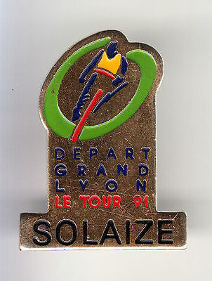 Rare Pins Pin's .. Velo Cyclisme Cycling Tour De France Solaize Lyon 69 ~By