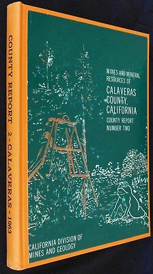 511 gold mines, Calaveras County, Calif rare '62 1st-ed book, separate maps, VG