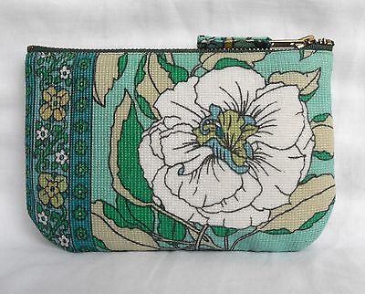Vintage Small Clutch Bag Scandanavian style Fabric Seventies 70's Swedish Purse
