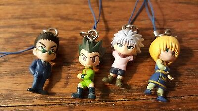 Set Lot of 4 Hunter x Hunter Keychain Strap Charms Gon Killua Kurapika Leorio