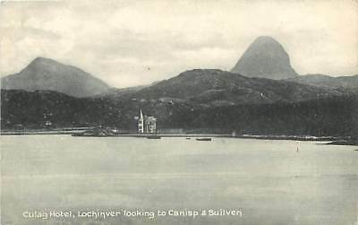 LOCHINVER The Culag Hotel looking to Canisp & Suilven FWH Postcard c1910's