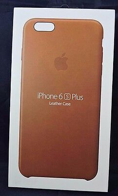 NEW OPEN OEM Apple iPhone 6 Plus / 6s Plus Leather Case by Apple - Saddle Brown
