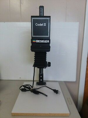 Beseler Cadet II #3502 35mm Enlarger W/50mm Lens Lamp Base Bellows NMC
