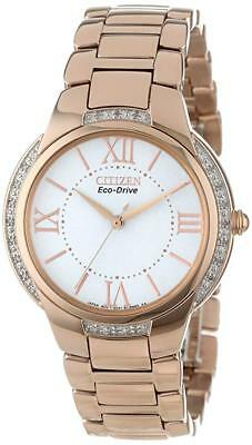 "Citizen Women's Eco-Drive EM0093-59A ""Ciena"" Diamond-Accent Rose Gold-Tone Watch"