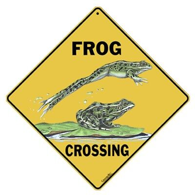 Frog Crossing Sign NEW 12X12 Metal Amphibian Herpetology