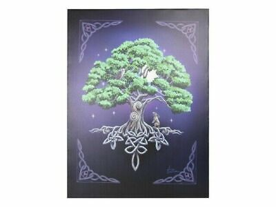 "Lisa Parker ""Tree of Life"" Large 40x30cm Wicca Canvas Wall Art Plaque"