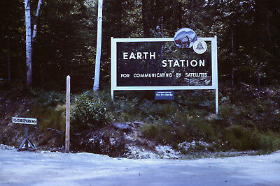 Vintage Lot of 2 Maine ME Earth Station Andover 35mm Photo Slide 1963 Cars