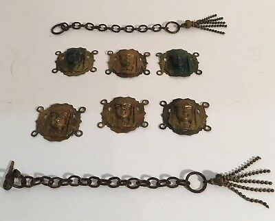 Antique 1920-30's ancient egyptian pharoahs revival brass for belt not complete