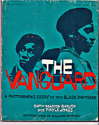 The Vanguard Photographic Essay on Black Panthers Huey Newton Rare 1970 PB