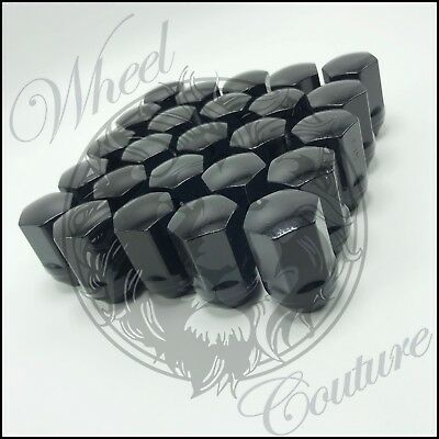24 Chevy Silverado GMC Sierra Factory Black Style Lug Nuts 14x1.5 22mm Hex OEM