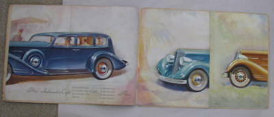 Antique NASH Automobile 1934 Color Foldout Brochure