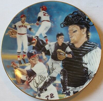 """1992 Carlton Fisk """"7227"""" 8 1/2"""" Plate Michael J. Taylor Signed Chicago White Sox"""