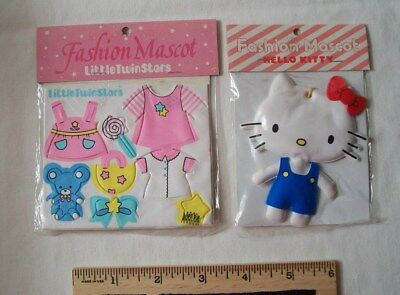 RARE vintage 1976 HELLO KITTY FASHION MASCOT * Outfits &Kitty *both UNOPENED