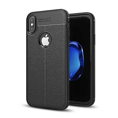 iPhone X | 10 Slim Soft TPU Leather Texture Skin Cover Case