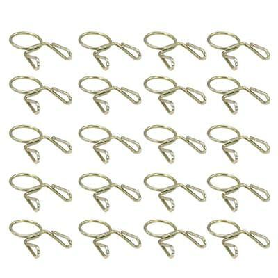 20X Fuel Line Hose Tubing Spring Clip Clamp 7mm For Motorcycle ATV Scooter D9K5
