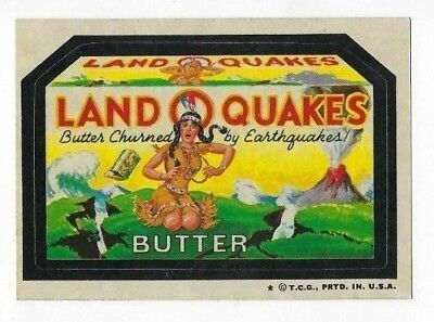 1973 Topps Wacky Packages 4th Series 4 LAND O' QUAKES BUTTER nm- o/c