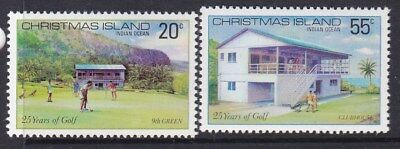 1980 CHRISTMAS ISLAND  25 years of golf on island  SET (2)  MINT UNHINGED MUH