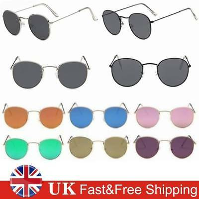 Retro Women Men Metal Frame Sunglasses Glasses Vintage Round Outdoor Eyewear