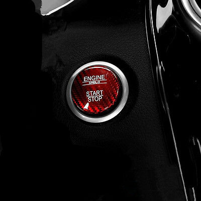 Real Carbon Fiber Cover For Mercedes Keyless Engine Start/Stop Push Button New