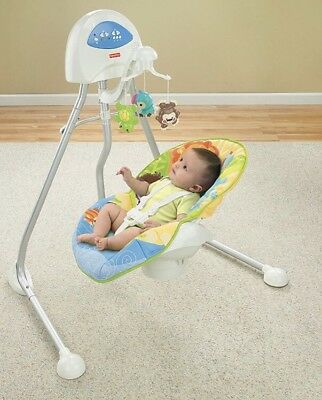 Fisher Price Baby Cradle and Swing - Fun Animals Print