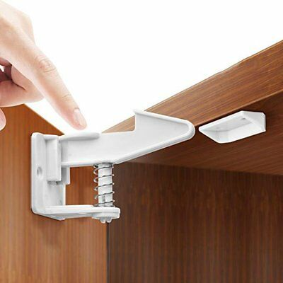 10PCS Adhesive Cabinet Drawer Cupboard Locks for Baby Kids Safety Child Proofing