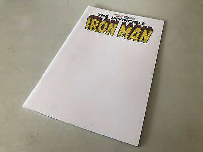 MARVEL COMICS THE invincible iron man #600 BLANK COVER SKETCH VARIANT EDITION