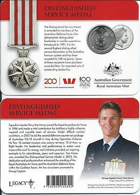 Australia - 2017 Legends of the ANZACS-Distinguished Service Medal  20c coin...F