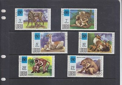 LIBERIA-1971-25th ANNIV UNICEF SET-SG 1083-8-CTO/NO GUM/NO HINGE-$5-freepost