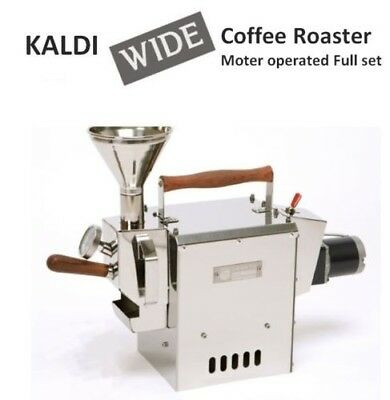 [KALDI] New Wide Coffee Bean Roaster Full Set Motor Operated for Home small cafe