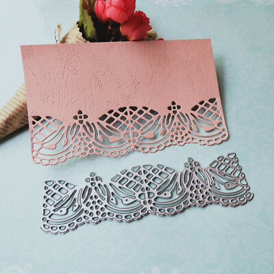 DIY Lace Edge Frame Metal Cutting Dies Embossing Envelope Scrapbooking Tool Kit