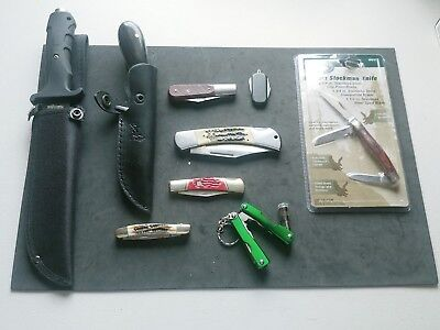 Collection Of Knifes Both Folding, Multi Tool And Flat Blade Lot
