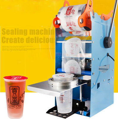 Electric Automatic Bubble Tea Cup Sealer Commercial Sealing Machine 500 Cups/H