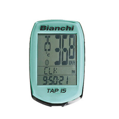 New Bianchi Tap 15 Bike Bicycle Wireless Speed Computer - Celeste(Turquoise)
