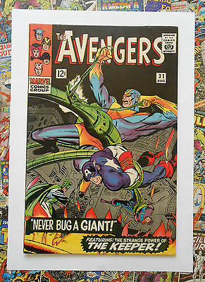 Avengers #31 - Aug 1966 - Keeper Appearance - Vfn/nm (9.0) Un-Stamped Cents!!
