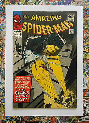 AMAZING SPIDER-MAN #30 - NOV 1965 - 1st CAT BURGLAR! - VFN+ (8.5) INVESTMENT!