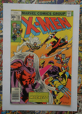 X-Men #104 - Apr 1977 - 1St Starjammers! - High Grade - Vfn+ (8.5) Cents Copy!