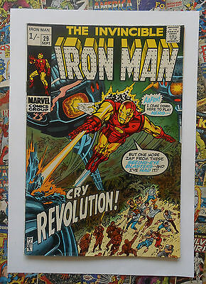 Iron Man #29 - Sept 1970 - The Overseer Appearance! - Fn- (5.5) Pence Copy!!!