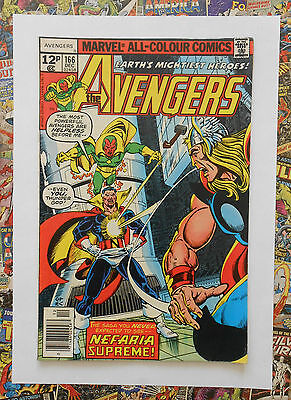Avengers #166 - Dec 1977 - Vision/scarlet Witch - High Grade - Fn+ (6.5)