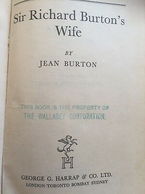 SIR RICHARD BURTON'S WIFE - By Burton - 1942
