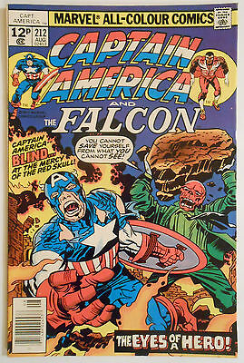 Captain America #212 - Aug 1977 - Red Skull Appearance! - Vfn/nm (9.0)