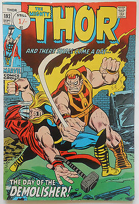 Thor #192 - Sept 1971 - Silver Surfer Appearance! - Fn+ (6.5) Pence Copy!