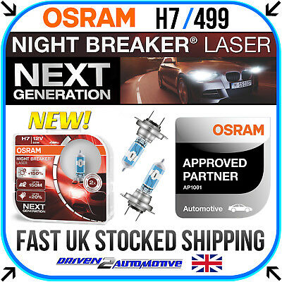 H7 OSRAM NIGHT BREAKER UNLIMITED AUDI A4 00-04 LOW BEAM HEADLAMP BULBS 8E2, B6