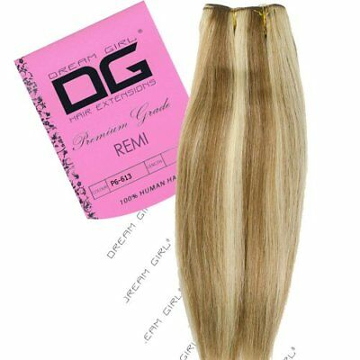 Dream Girl adhesiva Remy extensiones del pelo Color 6/613 45.7 cm