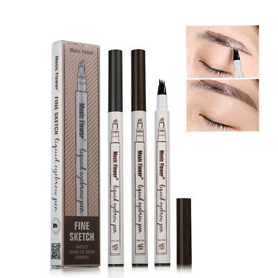 Micro 4 Tête Crayon à Sourcils Tatouage Maquillage Stylo Eye Brow Pencil étanche