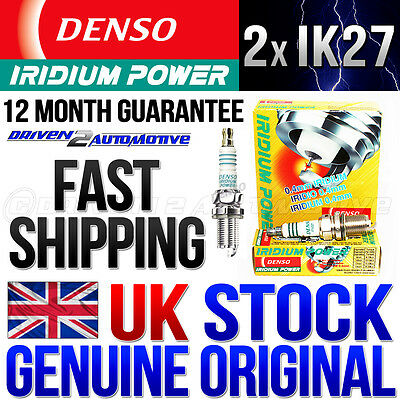 2 x DENSO IK27 (5312) IRIDIUM POWER SPARK PLUGS FOR HONDA VTR 1000 SP1 & SP2