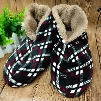 Winter Men Slippers Warm Cotton-Padded Home Shoes Soft Comfort Indoor Plush PVC