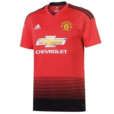 Man Utd 2018/19 Home Shirt - Adult Sizes - ANY Name & Number - Sleeve Patches
