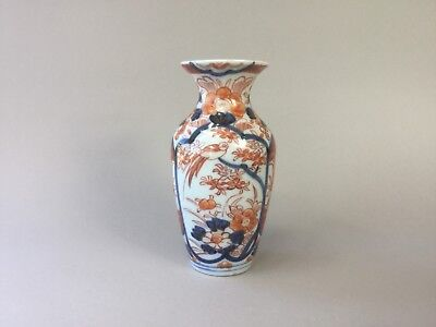 19th C Japanese Imari Beaker Vase Bird Flowers 3000 Picclick Uk